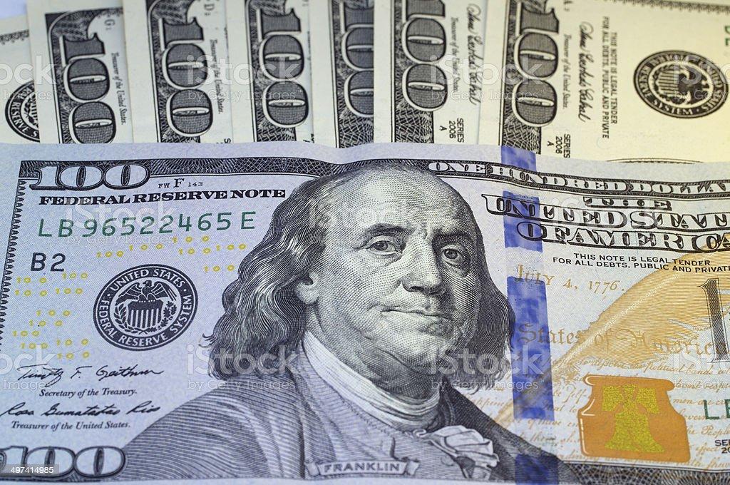 Hundred Dollars for background stock photo