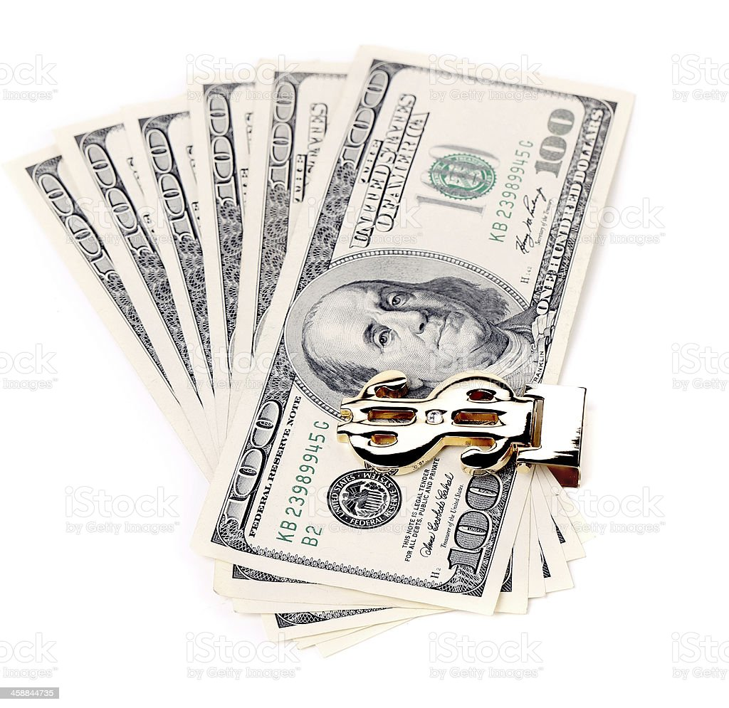 Hundred dollars greenbacks. stock photo