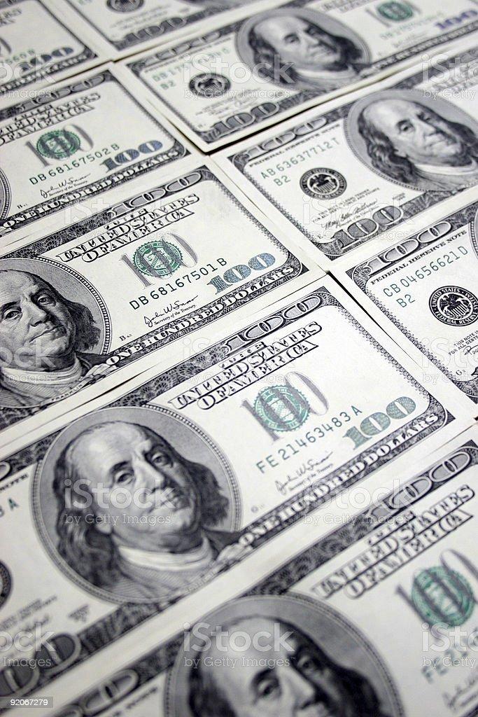 hundred dollars,Franklin royalty-free stock photo