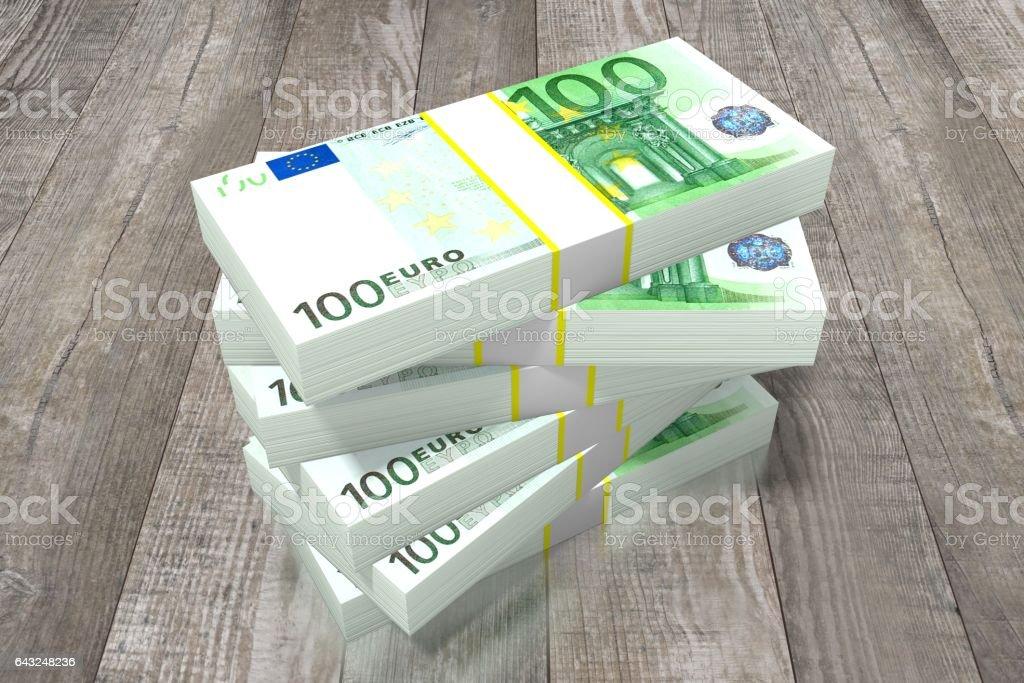 Hundred euro bills stock photo