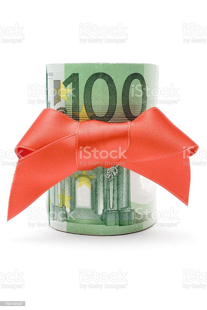 Hundred Euro Gift royalty-free stock photo