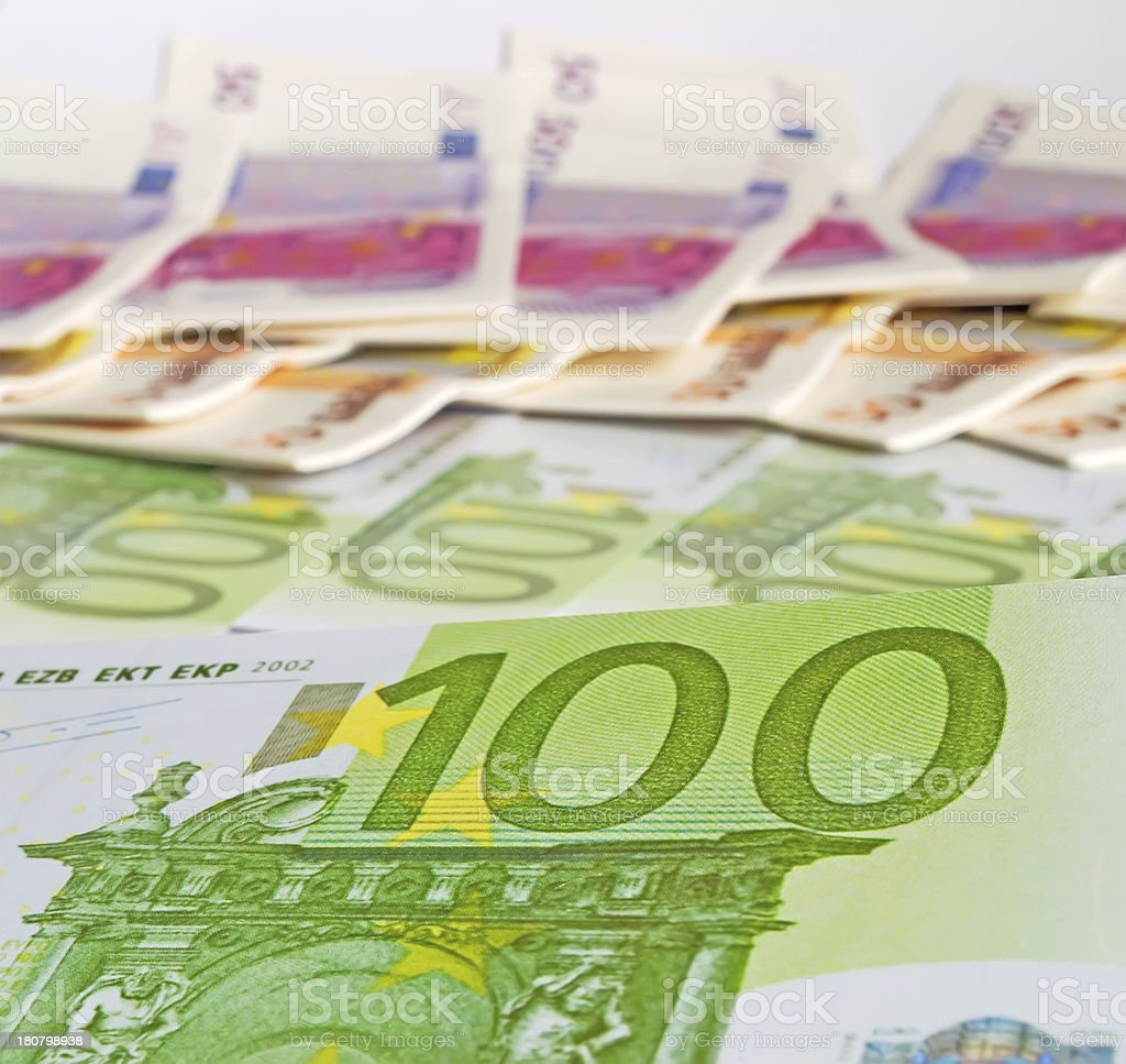 hundred euros royalty-free stock photo