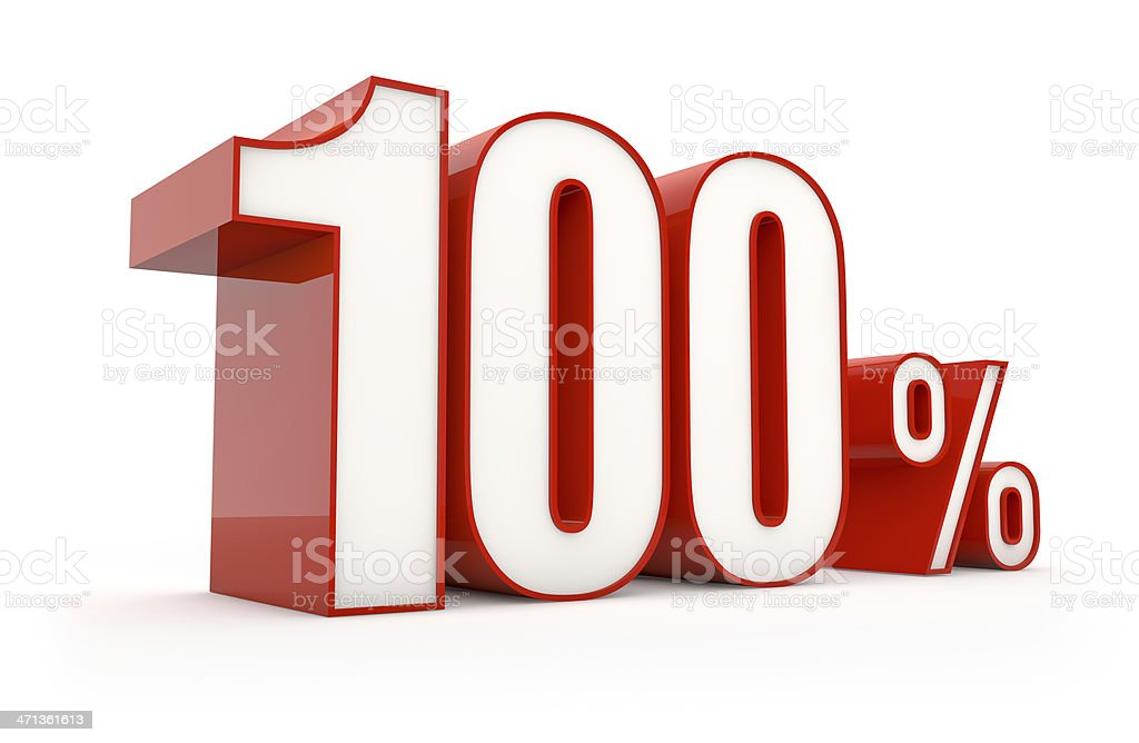 hundred percent | sale series royalty-free stock photo