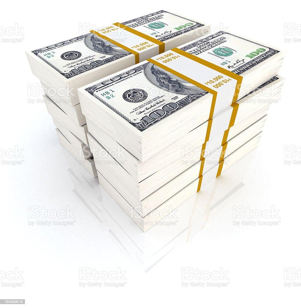 Hundred thousand dollars stock photo