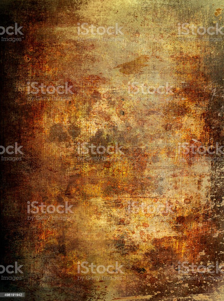 Hundred years old parchment paper stock photo