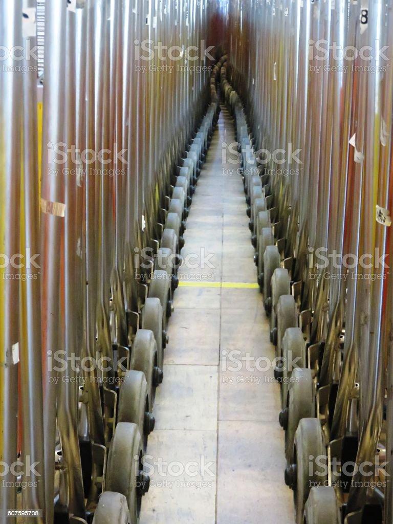 Hundreds of carts stock photo