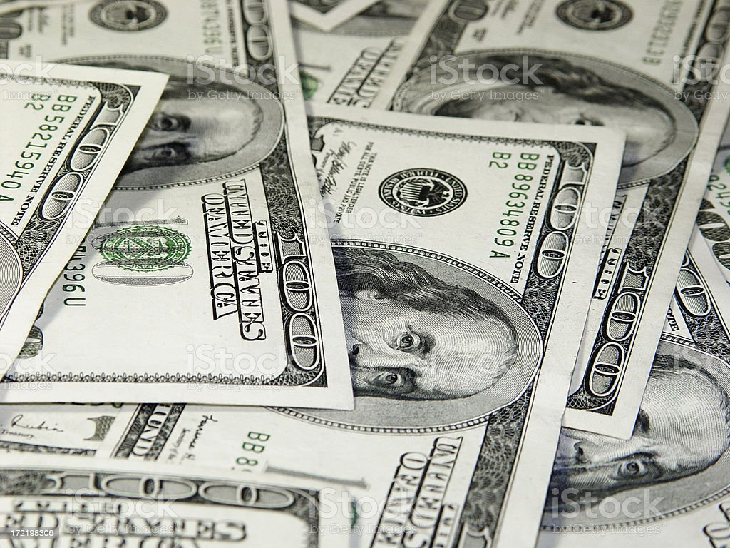 Hundreds of dollars  Money Background stock photo