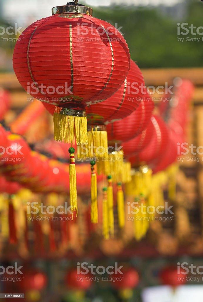 Hundreds of red lantern. royalty-free stock photo