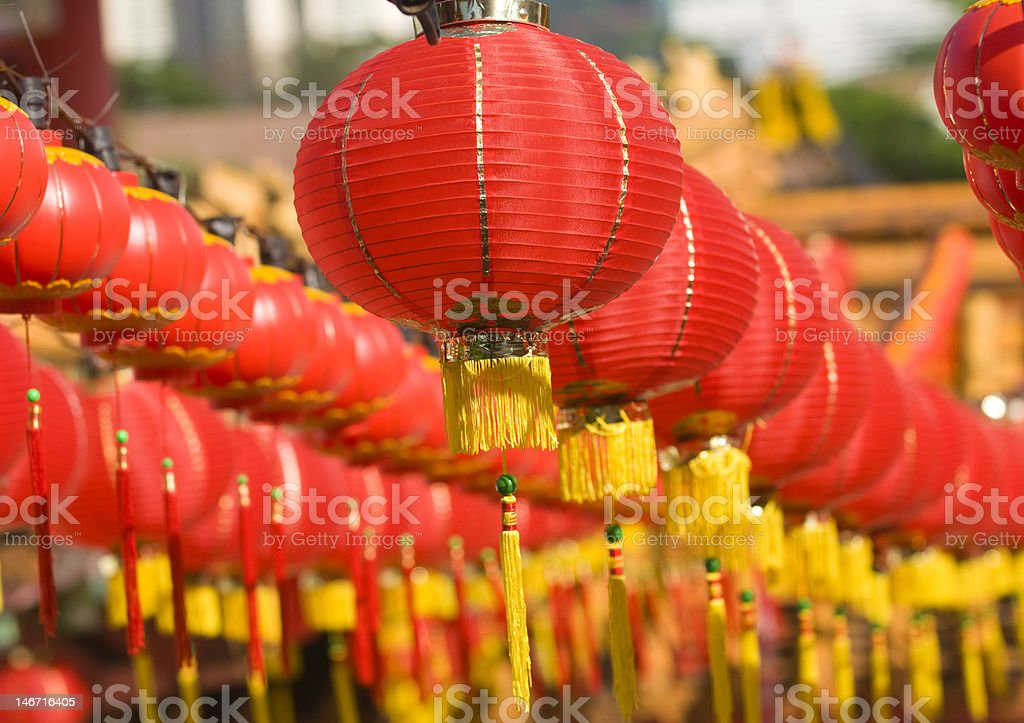 Hundreds of red lantern. royalty-free stock photo