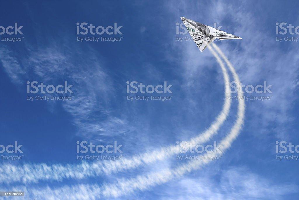 Hundreds plane stock photo