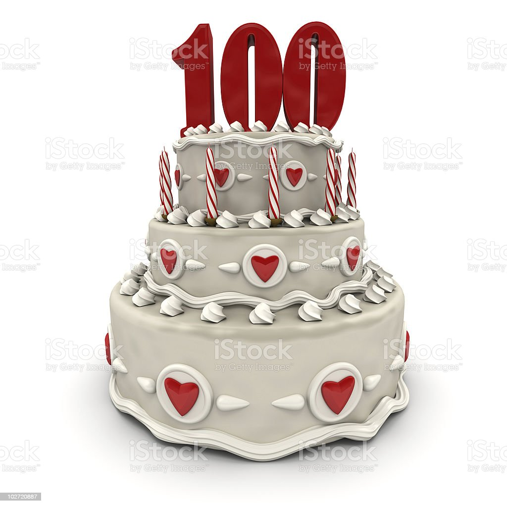Hundredth anniversary stock photo