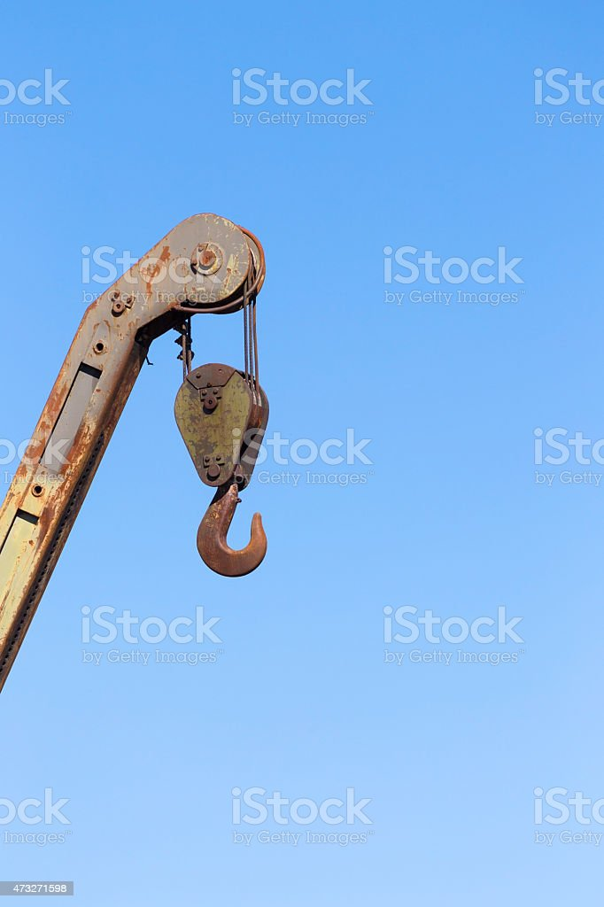 hung on a steel wire stock photo