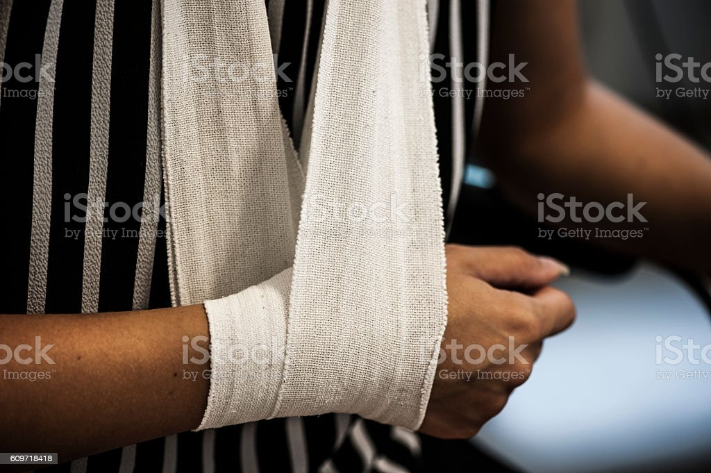 Hung up arm stock photo