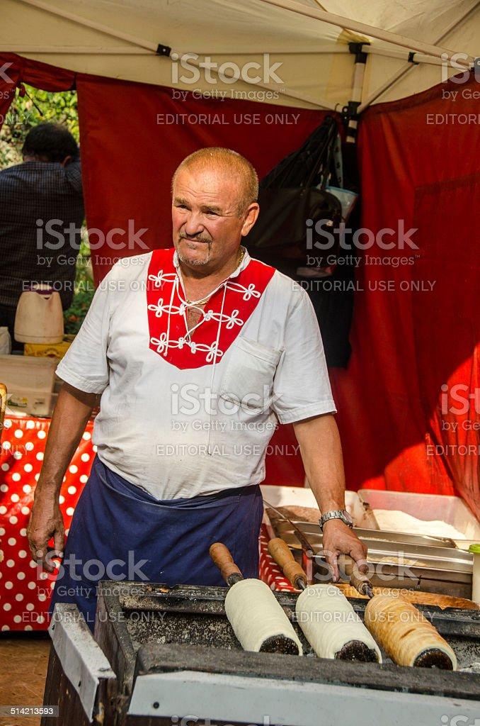 Hungarian Baker stock photo