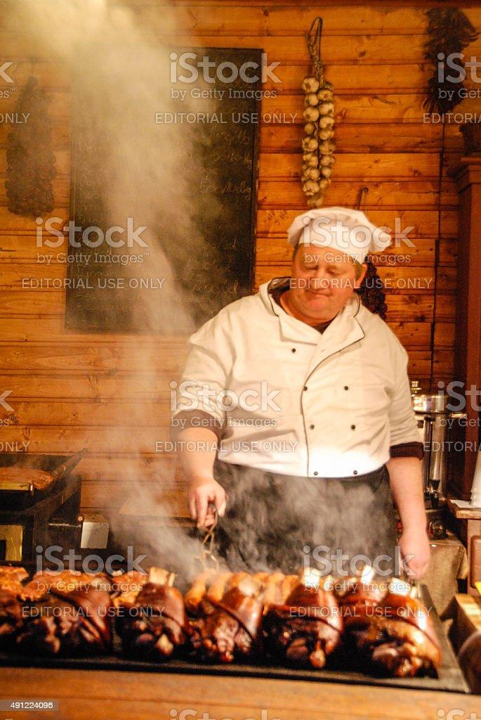 Hungarian BBQ stock photo