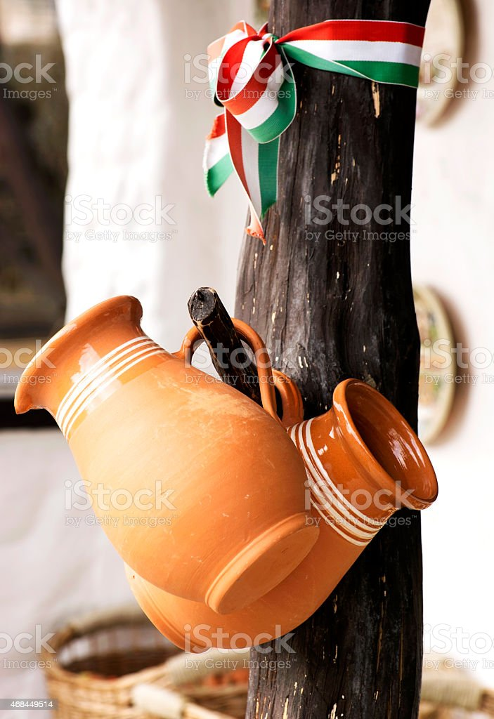 Hungarian ceramic products stock photo