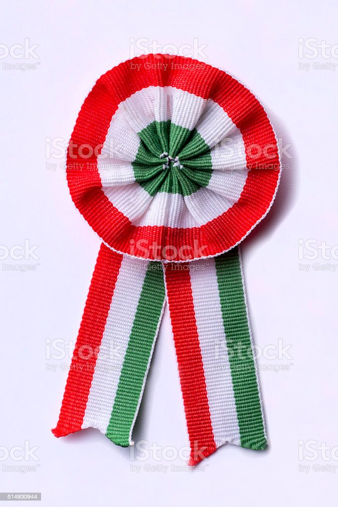 Hungarian cockade on white background stock photo