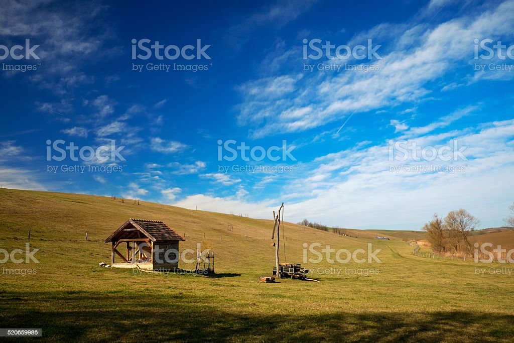 Hungarian countryside stock photo