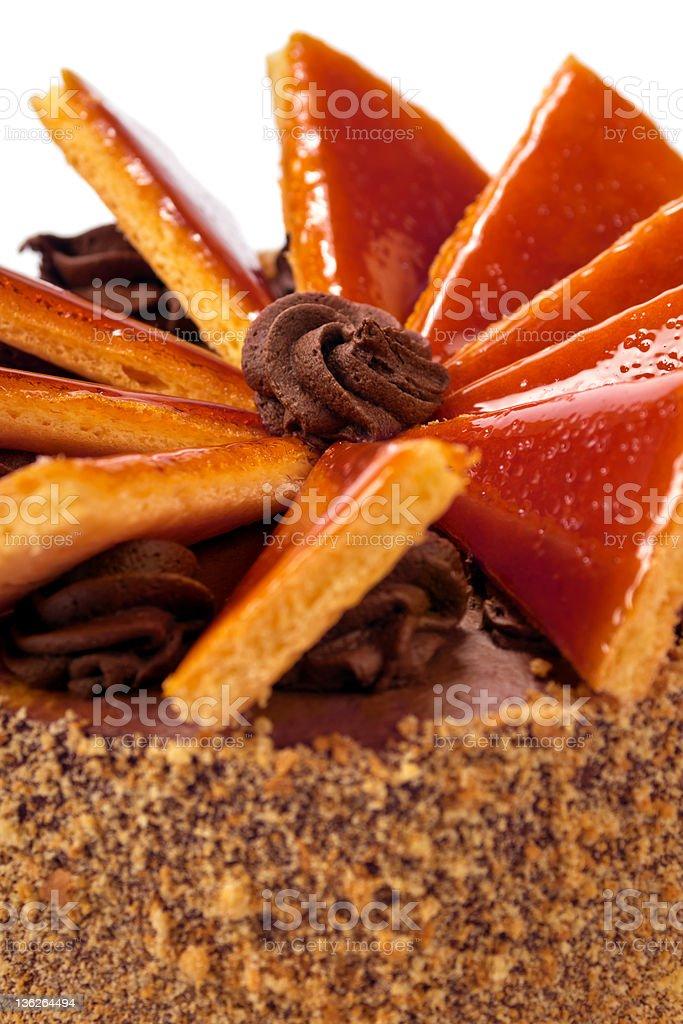 Hungarian Dobos torte - cake royalty-free stock photo