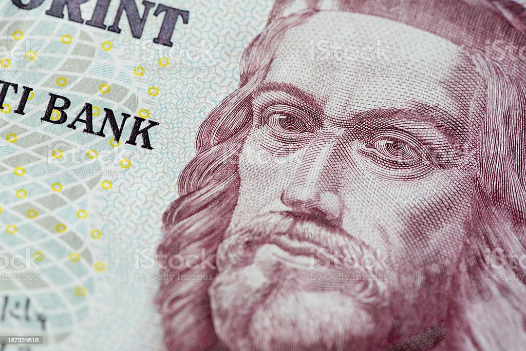 Hungarian Forint currency stock photo