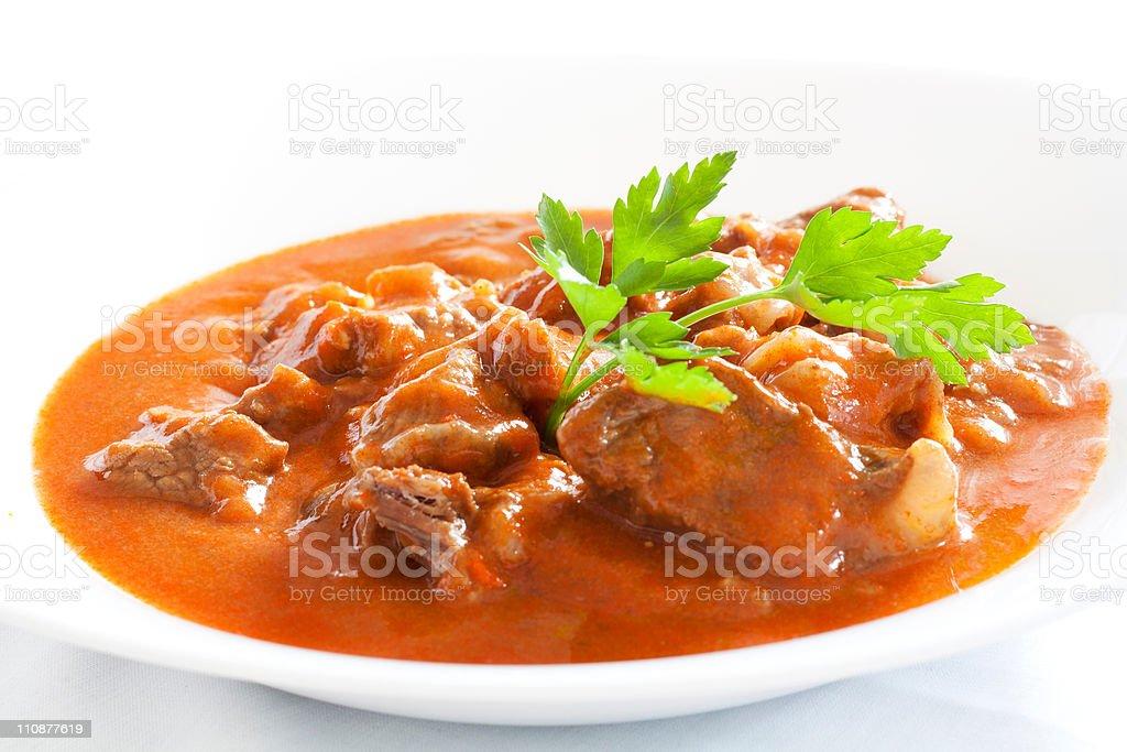 Hungarian goulash stock photo