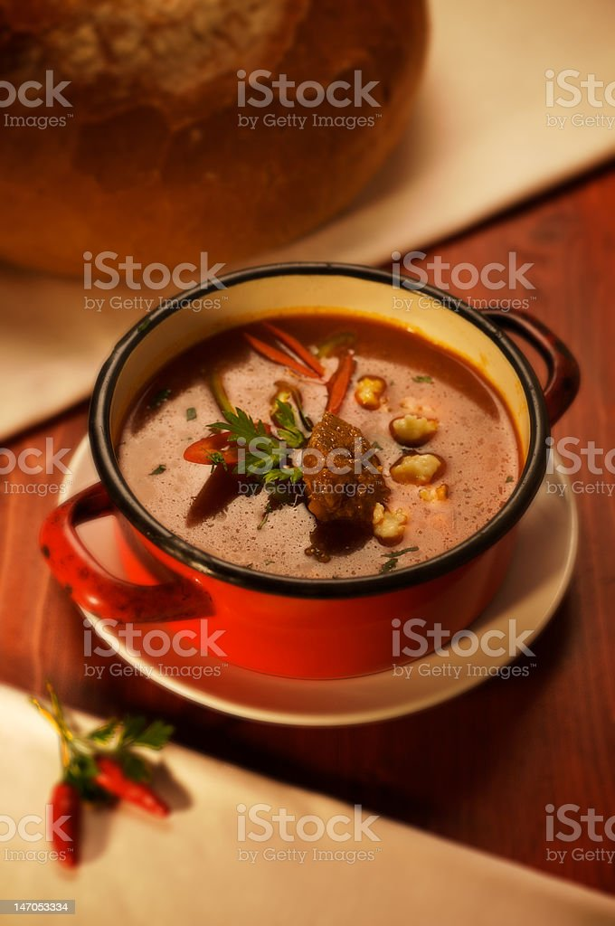 Hungarian goulash royalty-free stock photo