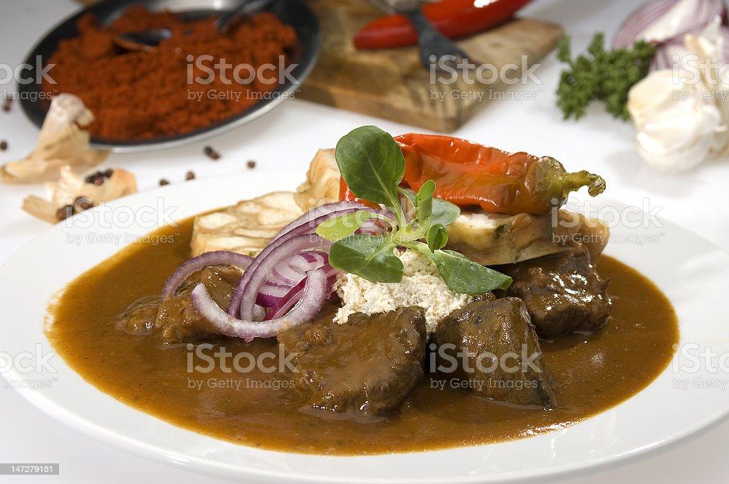 Hungarian goulash royalty-free stock photo