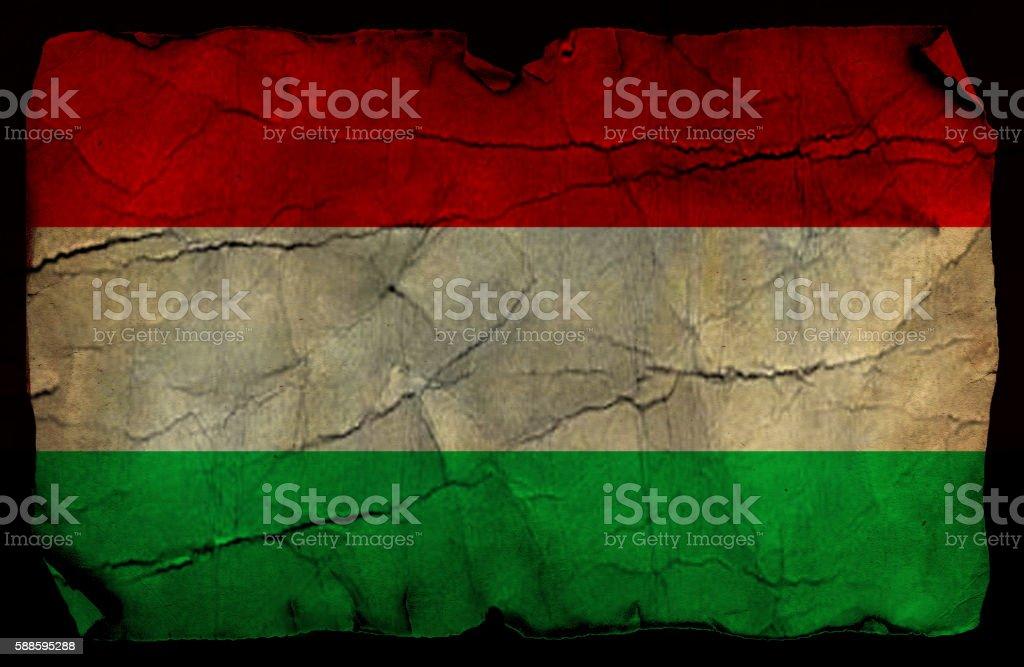 Hungarian grunge flag stock photo