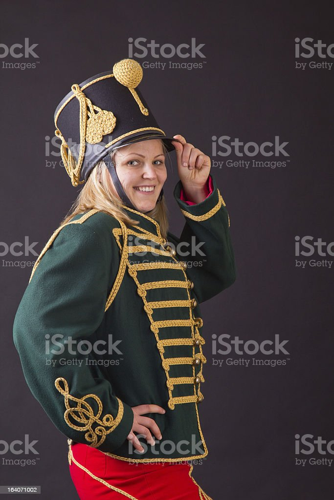 hungarian hussar woman royalty-free stock photo