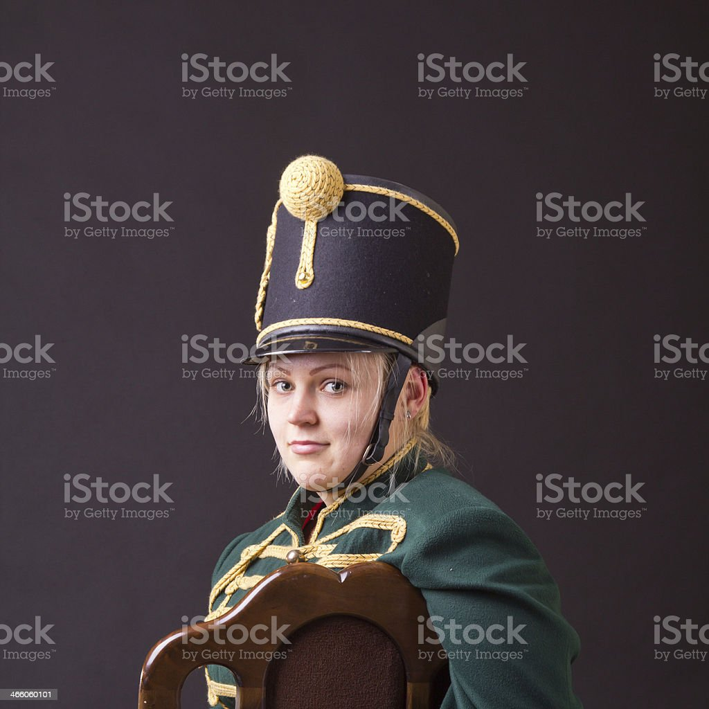 hungarian hussar woman stock photo