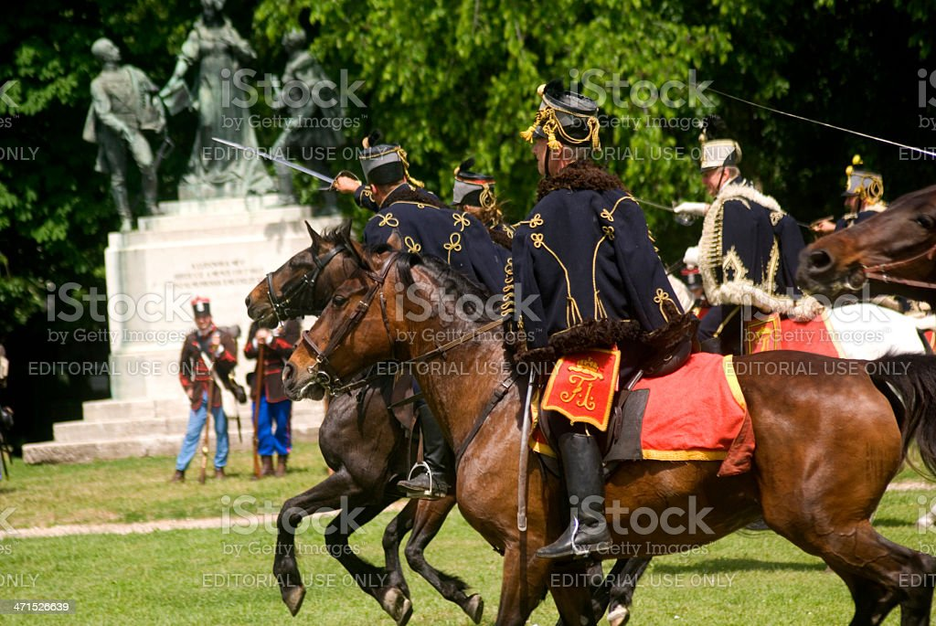 Hungarian hussars, Budapest, Hungary stock photo