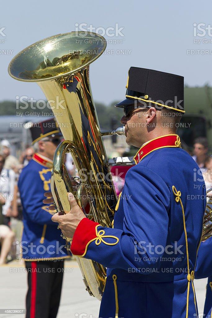 Hungarian Military band royalty-free stock photo