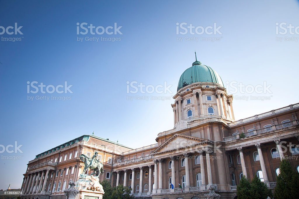 Hungarian National Gallery, Budapest stock photo