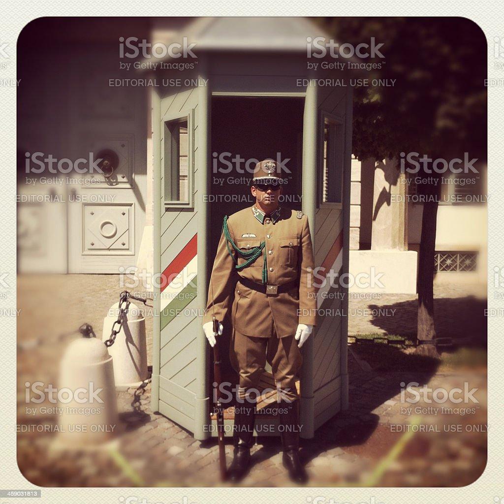 Hungarian national guard royalty-free stock photo