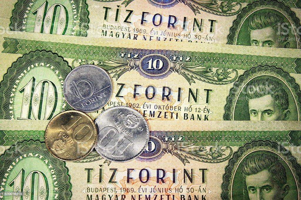 Hungarian old money stock photo