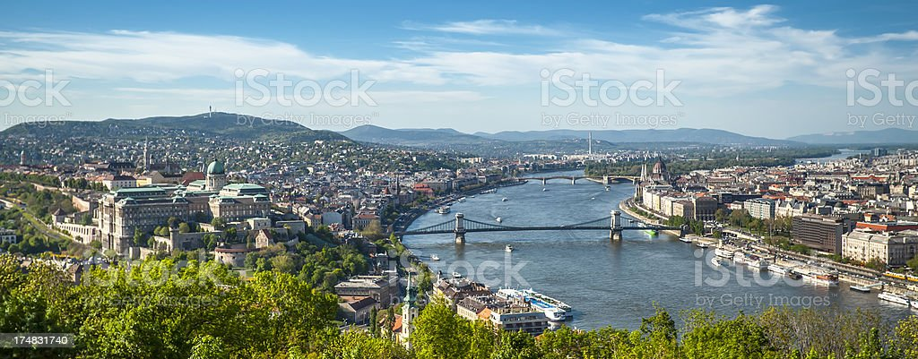 Hungarian Parliament and cityscape royalty-free stock photo