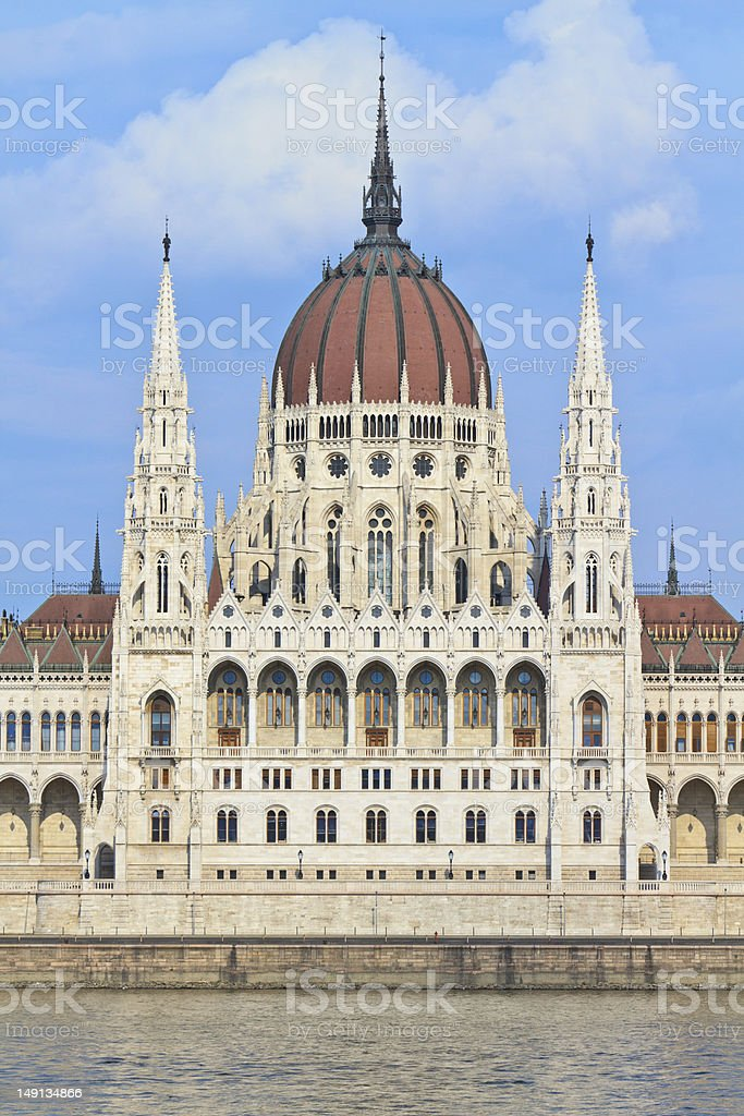 Hungarian Parliament Budapest, Hungary stock photo