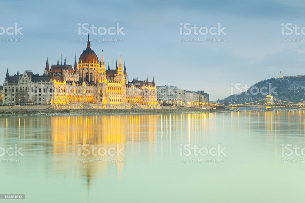 Hungarian parliament - Budapest stock photo