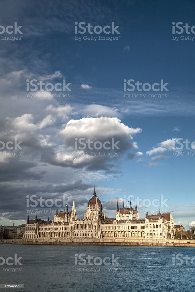 Hungarian parliament - Budapest royalty-free stock photo