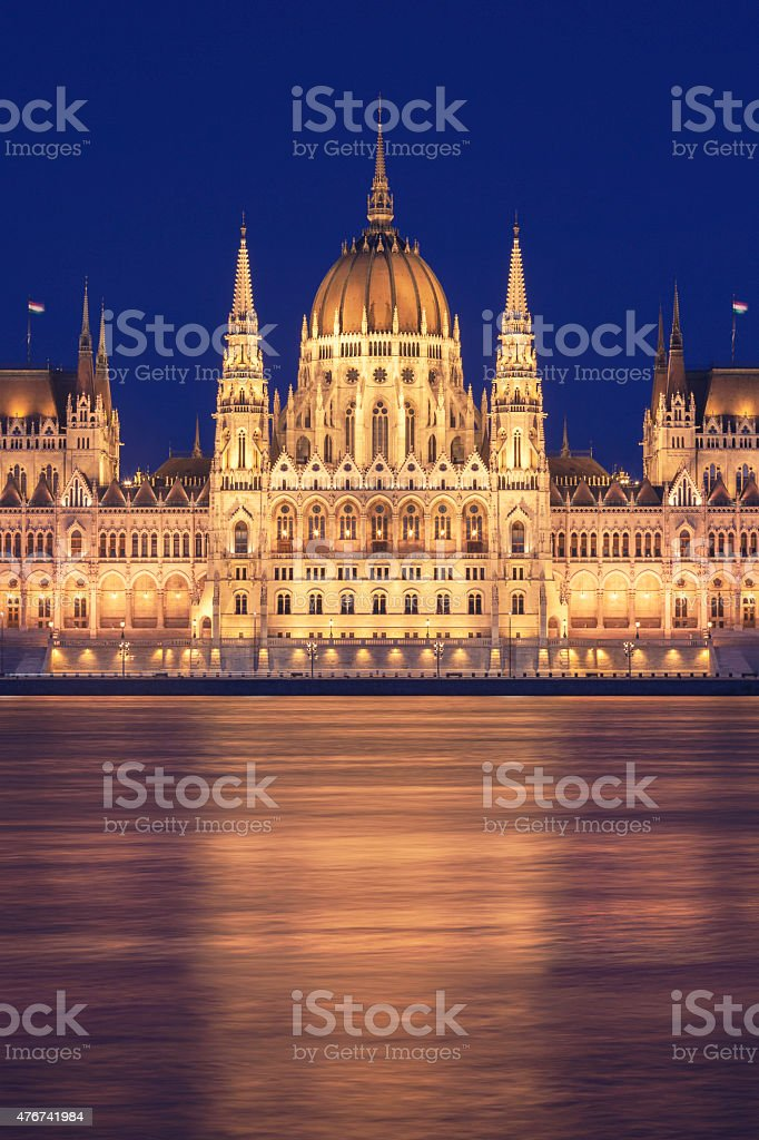 Hungarian parliament, Budapest stock photo