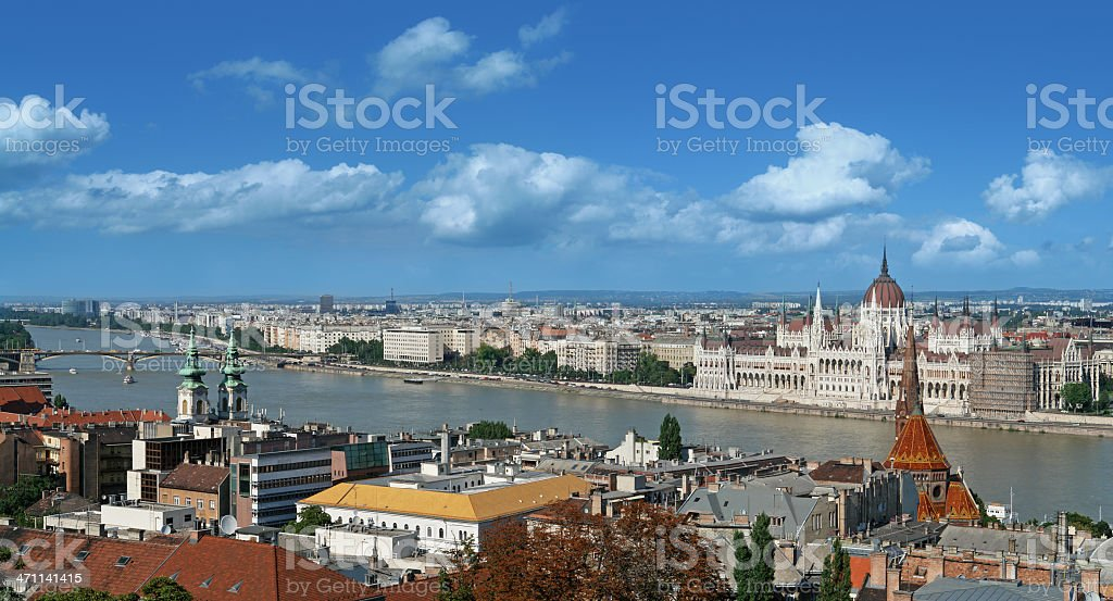 Hungarian Parliament Building and Danube River royalty-free stock photo