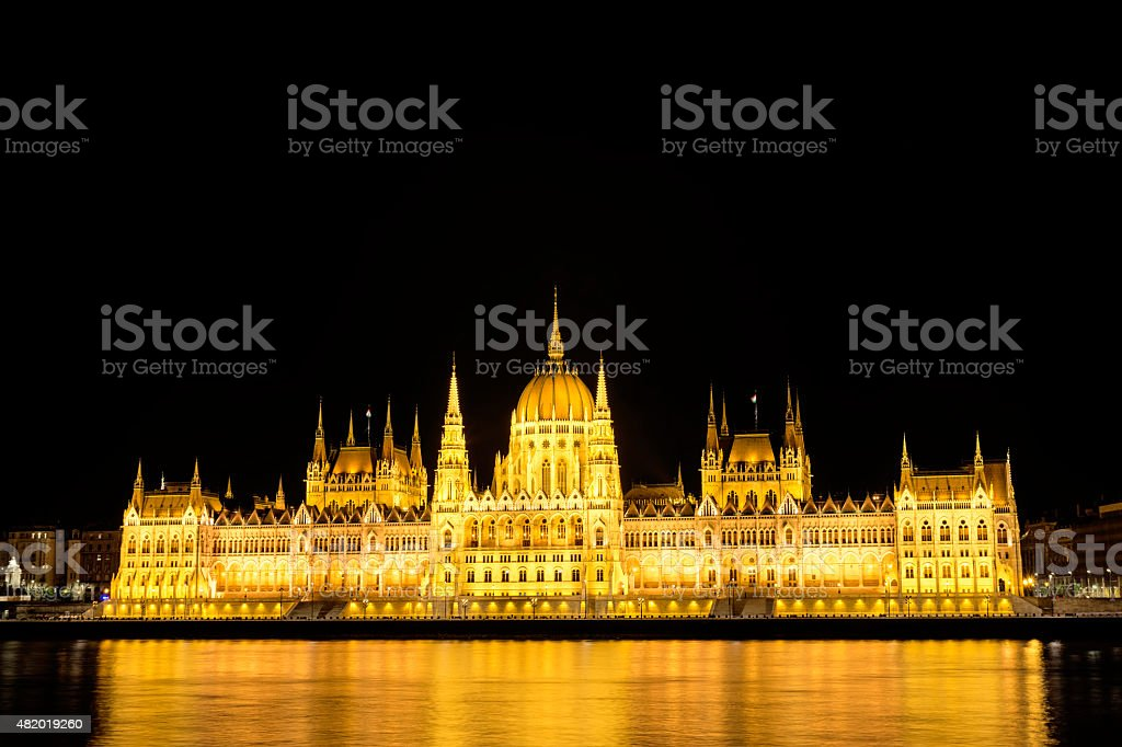 Hungarian Parliament Building, Budapest, Hungary stock photo