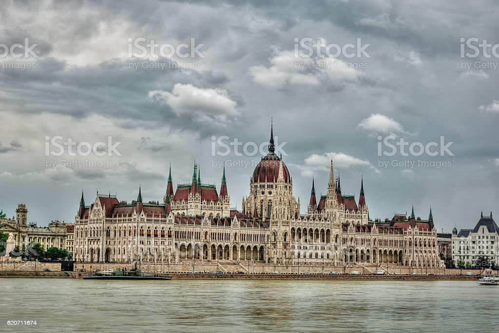 Hungarian Parliament Building HDR stock photo