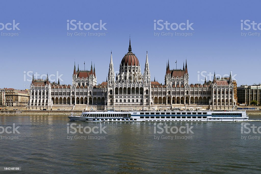 Hungarian Parliament building in Budapest, Hungary stock photo
