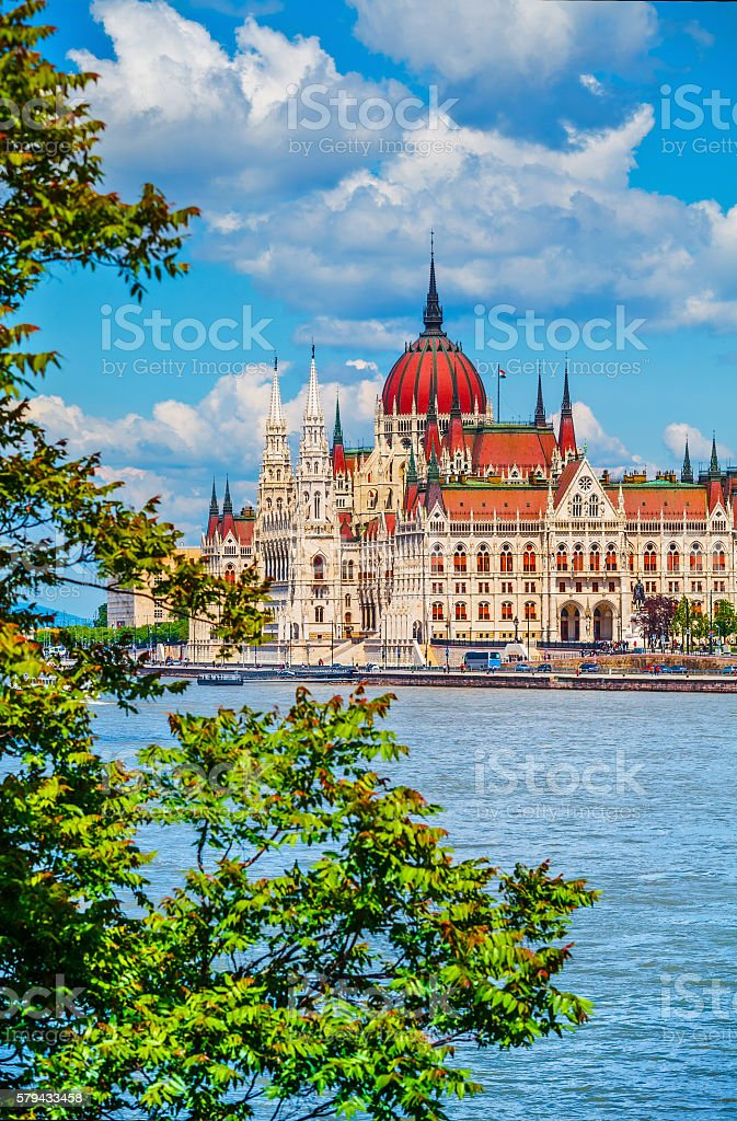 Hungarian parliament building in budapest stock photo