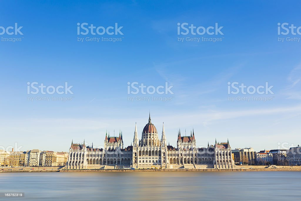 Hungarian Parliament Building stock photo