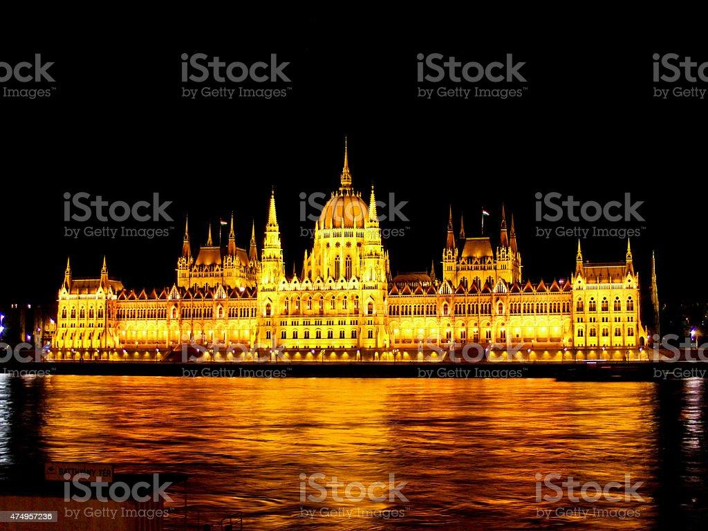 Edificio del parlamento húngaro foto de stock libre de derechos