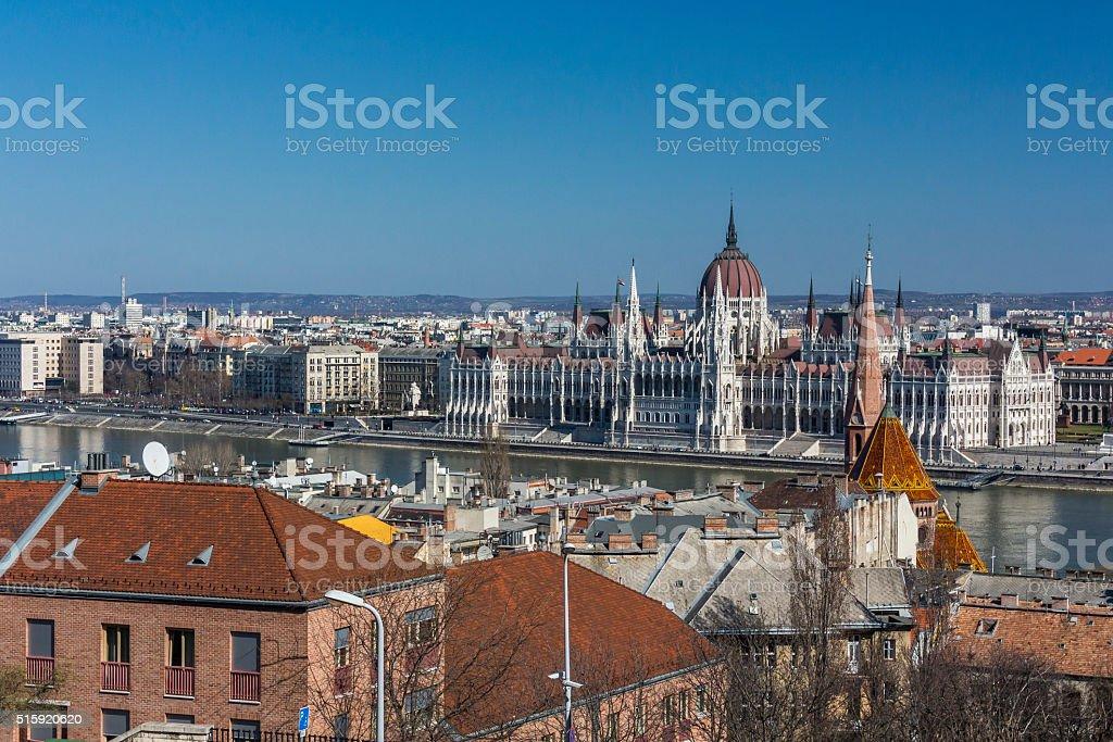 Hungarian Parliament Building stock photo