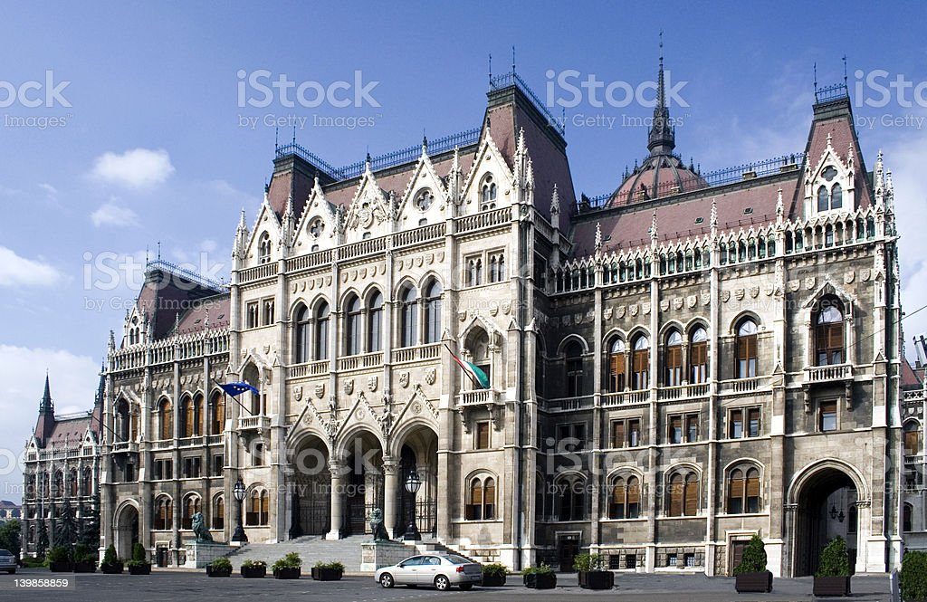 Hungarian Parliament House stock photo