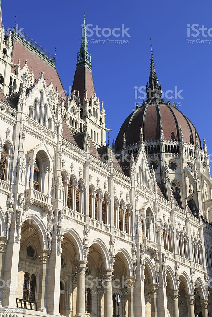 Hungarian Parliament in Budapest royalty-free stock photo